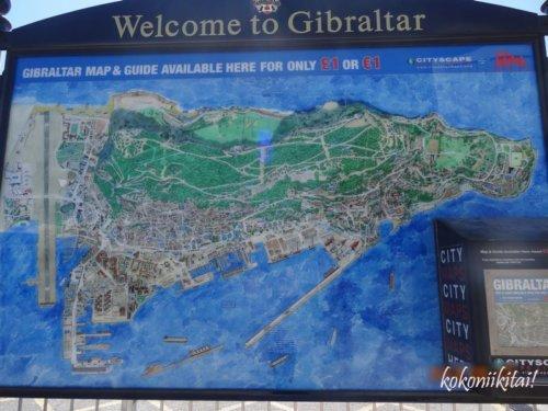 ジブラルタル、地図
