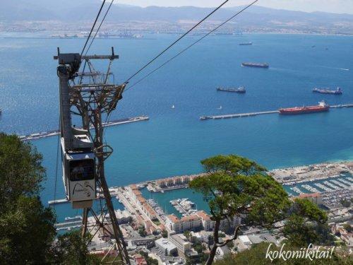 ジブラルタル、ロープウェー