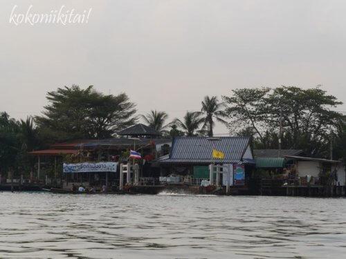 バンナムプン水上マーケット行き方、クロントゥーイ渡し船乗り場