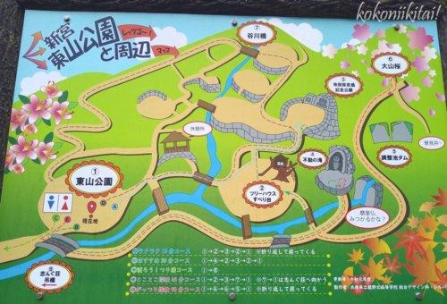 兵庫県たつの市東山公園の地図