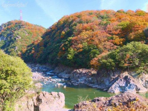 旧国鉄福知山線JR福知山線廃線跡ハイキングトレッキング紅葉
