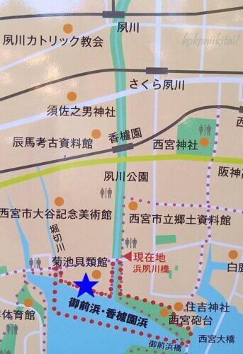 夙川沿線地図