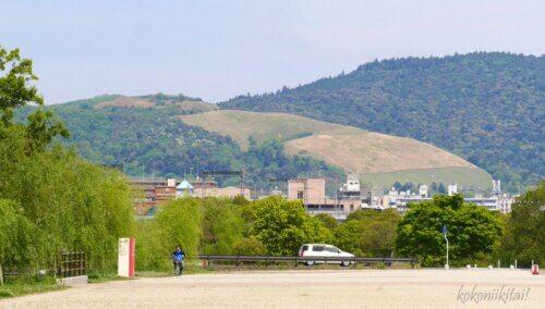 平城京から見た若草山