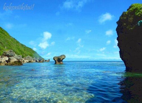 伊良部島サバウツガーの海シュノーケル
