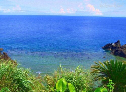 奄美大島の大金久ふれあいパーク展望台からの眺め眺望・珊瑚礁・海