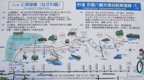 京都八幡木津自転車道の地図