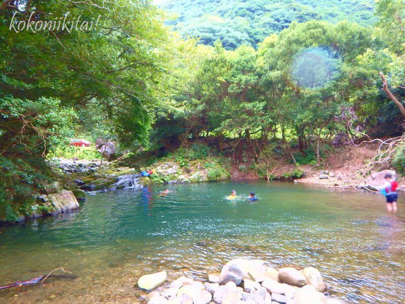 淡路島鮎屋川上流で川遊び