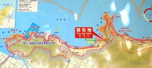 鳥取県岩美町熊井浜地図